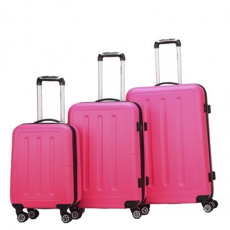 Decent Neon Fix spinner kofferset van 3 pink