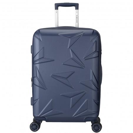 Decent Q-Luxx Koffer 77cm Expandable Donkerblauw BT