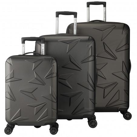 Decent Q-Luxx Kofferset Antraciet