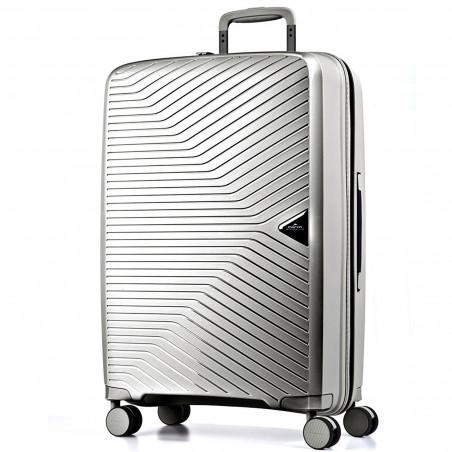 March Gotthard Handbagage Koffer 55cm Zilver