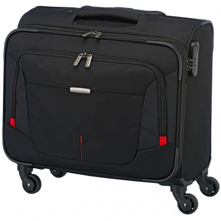 Travelite AtWork 4 Wiel Business Trolley Zwart Melange