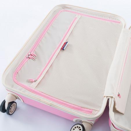 Decent Star Maxx Handbagage Koffer 55cm Pastel Roze
